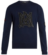 Alexander Mcqueen Amq-appliqué Cotton-knit Sweater