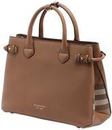 Burberry Medium Banner Leather & House Check Bag