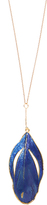 Aurelie Bidermann Plumes lacquered yellow-gold necklace