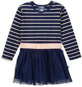 Toobydoo Striped Top Tulle Bottom Dress (Toddler, Little Girls, & Big Girls)
