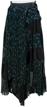 Sacai Green Skirt for Women