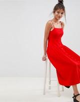 Asos Design DESIGN Button Through Drop Waist Casual Maxi Dress