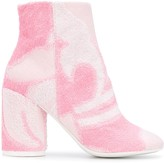 MM6 MAISON MARGIELA abstract pattern 90mm ankle boots
