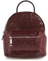 Street Level Glitter Zip Backpack