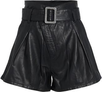 Marissa Webb Levi Belted Leather Shorts