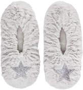 Fuzzy Babba Faux-Fur Stars Slipper Socks, Little Girls (4-6X)