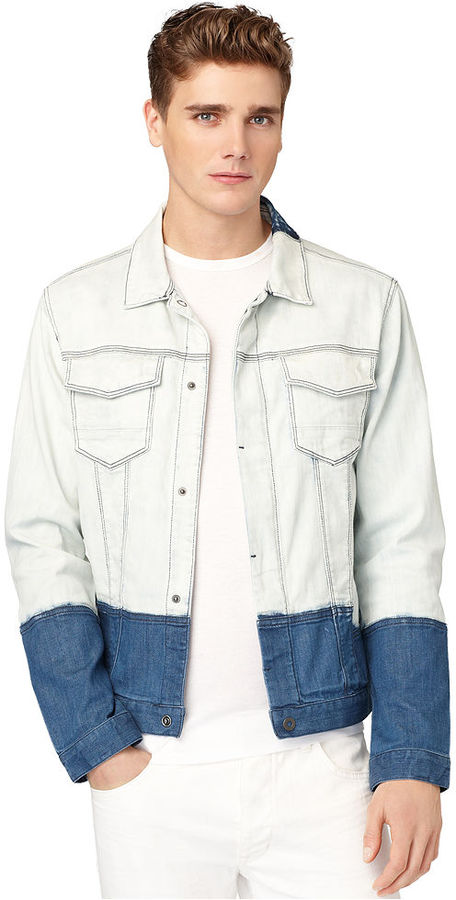 Calvin Klein Jeans Jacket, Denim Colorblock Jacket
