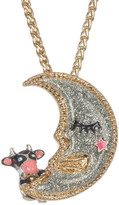 Betsey Johnson Moon Pendant Necklace