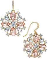 Charter Club Gold-Tone Pink & Clear Cubic Zirconia Drop Earrings, Only at Macy's