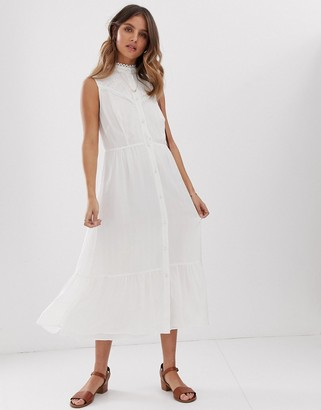 Stevie May Aralia sleeveless midi dress with lace insert