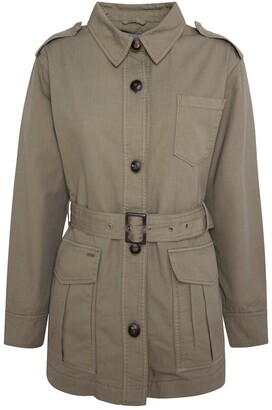 Pepe Jeans Cotton/Linen Utility Jacket with High-Neck