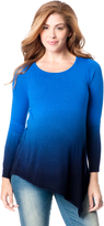 Motherhood Asymmetrical Dip Dye Maternity Tunic Sweater