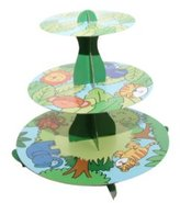 Mason Cash 3-Tier Jungle Cupcake Stand, Multi-Colour