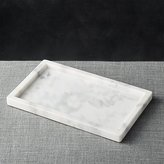 Crate & Barrel French Kitchen Marble Rectangle Tray