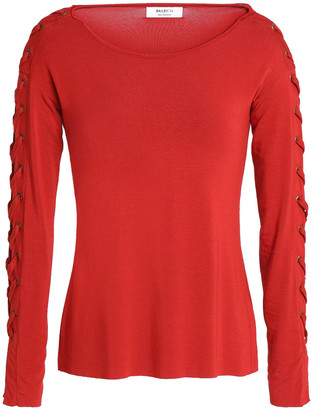 Bailey 44 Lace-up Modal-blend Top