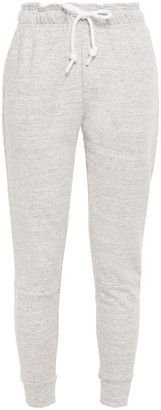 adidas Printed Melange Cotton-blend Jersey Track Pants
