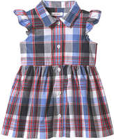 Joe Fresh Baby Girls' Plaid Dress, Blue (Size 18-24)