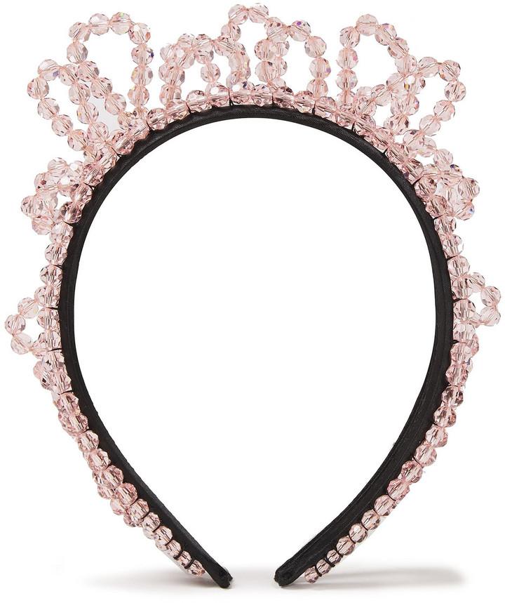 Simone Rocha Wiggle Beaded Satin Headband