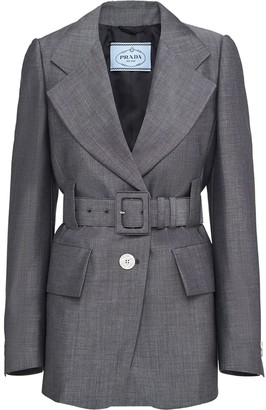 Prada Belted Single-Breasted Jacket