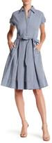 SL Fashions Gingham Shirtdress