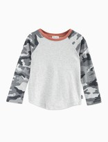 Splendid Little Boy Raglan Tee with Printed Camo Sleeves