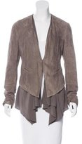 Brunello Cucinelli Silk-Accented Suede Jacket