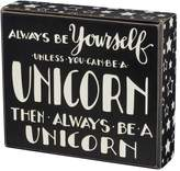Unicorn Box Sign Art