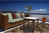 "South Beach Indoor/Outdoor Brown Cascade Rug (3'9"" x 5'9"")"