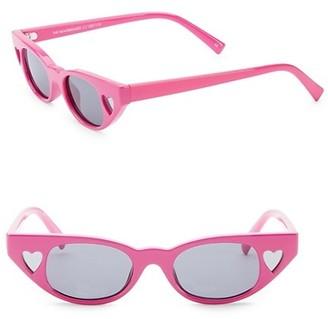 Le Specs Luxe 56MM Le Specs x Adam Selman The Heartbreaker Cateye Sunglasses