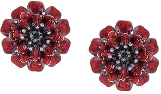 Marchesa Poppy flower earrings
