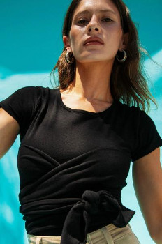 The Line By K The Jeanne Top In Black - XS