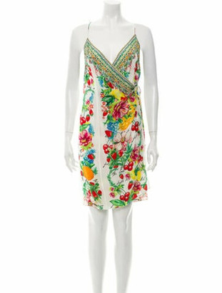 Camilla Floral Print Knee-Length Dress White