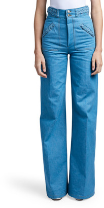 Marc Jacobs Braided-Waist Flared Jeans