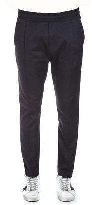 Low Brand Navy Fabric Elasticated Pants