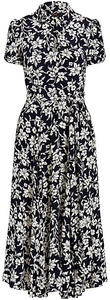 Thumbnail for your product : Polo Ralph Lauren Nico Graphic Floral Midi Dress