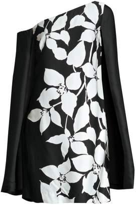 Trina Turk Jazzy Floral Cape Mini Dress