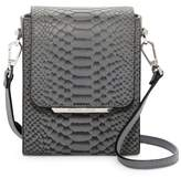 KENDALL + KYLIE Kendall & Kylie Violet Snake Embossed Leather Crossbody Bag