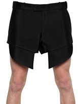 Thierry Mugler Stretch Cotton Shorts