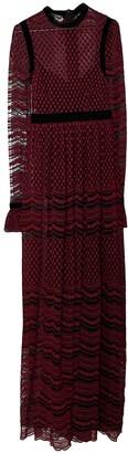 Philosophy di Alberta Ferretti Red Velvet Dress for Women
