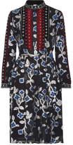 Dodo Bar Or - Loren Embellished Velvet-trimmed Metallic Fil Coupé Chiffon Dress - Black