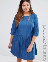 Junarose Chambray Skater Dress
