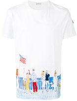 Moncler people print T-shirt - men - Cotton - L