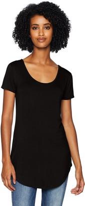 Daily Ritual Jersey Short-sleeve Scoop-neck Longline T-shirt Black US M (EU M - L)