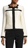 Karl Lagerfeld Paris Long Sleeve Tweed Jacket