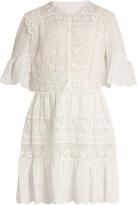 Rebecca Taylor Lace-trimmed cotton-voile dress