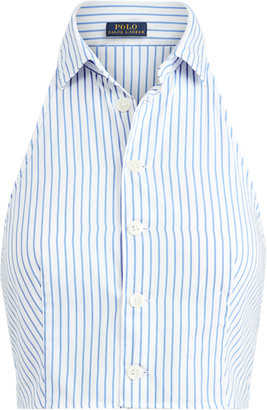 Ralph Lauren Striped Cotton Halter Top