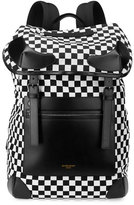 Givenchy Rider Checker-Print Backpack, Black/White