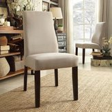 Inspire Q Marcey Grey Fabric Wave Back Dining Chair (Set of 2)