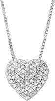 Sterling Silver 1/4 Carat T.W. Diamond Heart Pendant