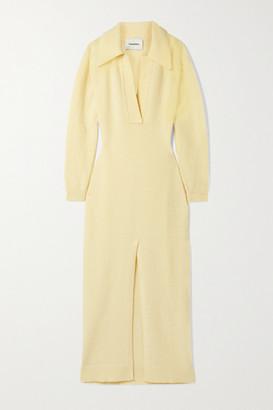 Nanushka Hope Wool-blend Maxi Dress - Pastel yellow